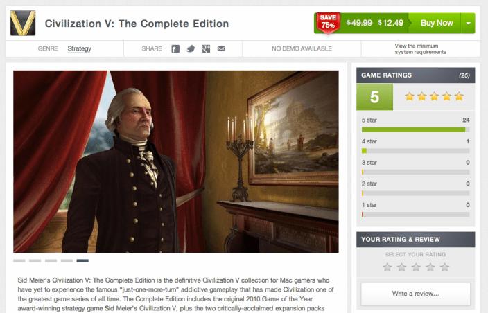 Civilization V-sale-Complete Edition-Mac Game Store-02