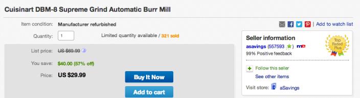 Cuisinart DBM-8 Supreme Grind Automatic Burr Mill-sale-02