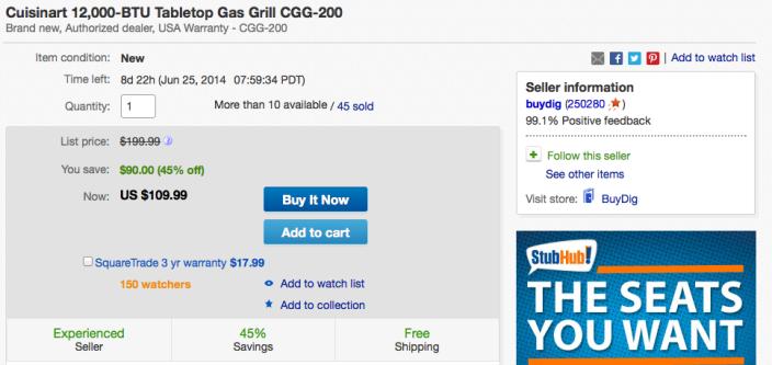 cuisinart-grill-ebay-deal