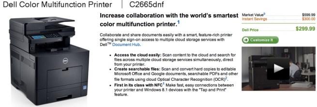 Dell Color Printer – C2665dnf