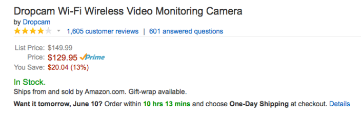 dropcam-amazon-deal