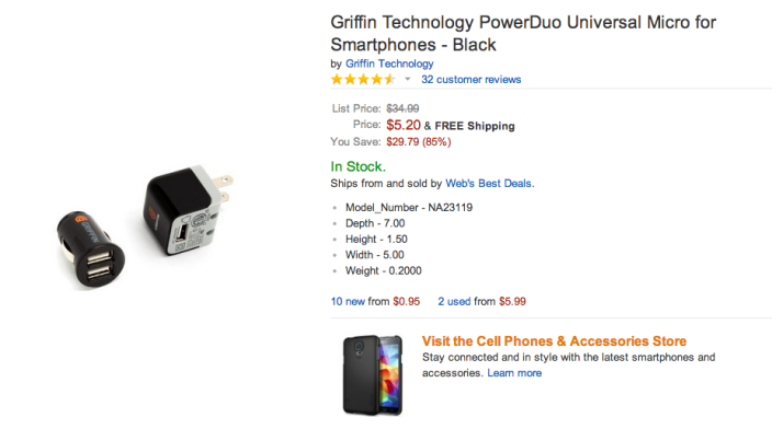 Griffin Technology PowerDuo Universal Micro charger for smartphones-sale-02