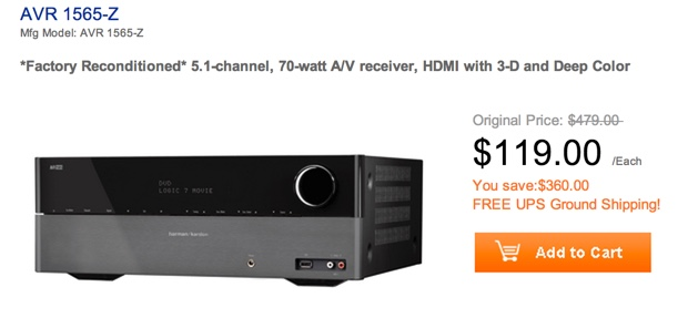 Harman Kardon AVR 1565 5.1-channel, 70-Watt Audio:Video Receiver with HDMI v.