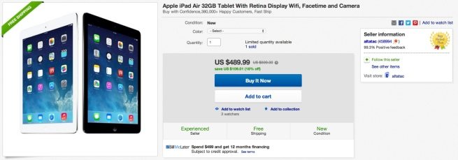 ipad air 32GB