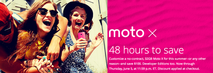 Moto X-100off-sale-48hours