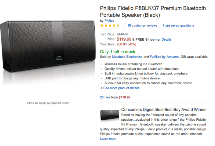 Philips Fidelio P8BLK:37 Premium Bluetooth Portable Speaker-sale-02