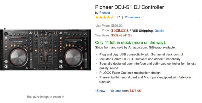 Pioneer DDJ-S1 DJ Controller: $530 shipped (Reg  $699