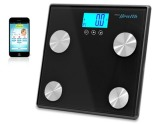 Pyle PHLSCBT4 Bluetooth Digital Weight & Personal Health Scale with Wireless iPhone, Android, Smartphone Data Transfer & Pyle Health App Fitness Tracker