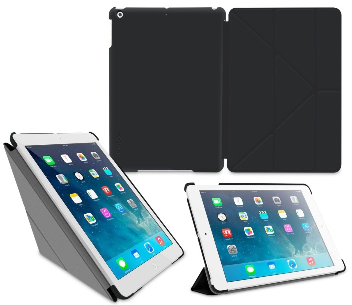 Roo CASE Slim Shell Origami Case for iPad Air-sale-02