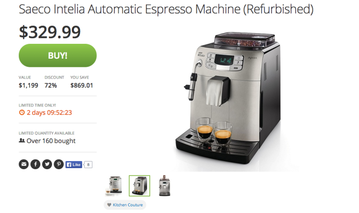 Saeco Intelia Automatic Espresso Machine-sale-02