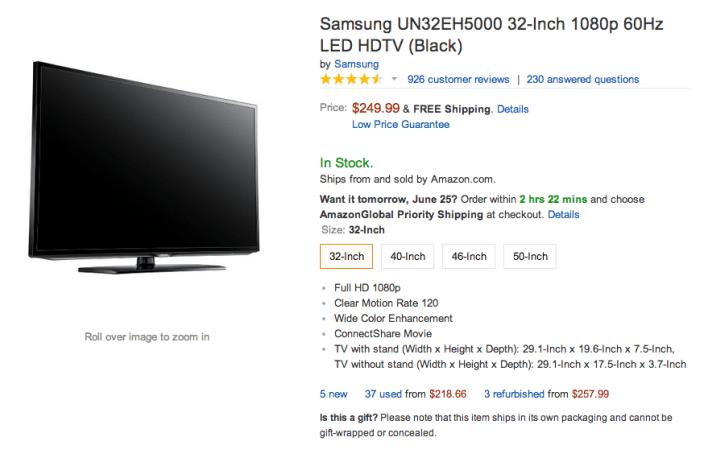 Samsung 32-Inch 1080p LED HDTV (UN32EH5000)-sale-01