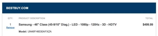 Samsung 46%22 3D HDTV Best Buy