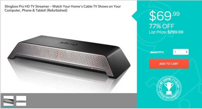 Slingbox Pro HD TV Streamer – Watch Your Home's Cable TV Shows on Your Computer, Phone & Tablet! (Refurbished)