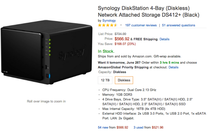 Synology 4-Bay DS412+ DiskStation (Diskless) Network Attached Storage-sale-02
