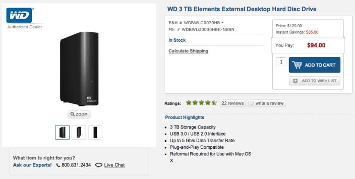 WD 3 TB Elements External Desktop hard drive-sale-02