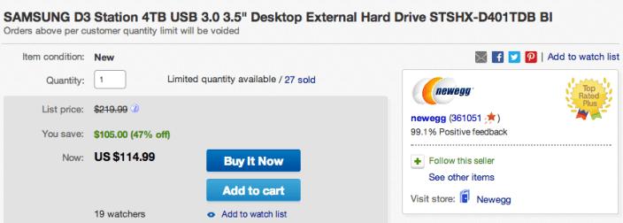 4TB SAMSUNG D3 Station USB 3.0 3.5%22 desktop external drive (STSHX-D401TDB Bl-sale-03