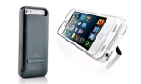 Apple-Certified 2,400mAh Power Case with Built-in Kickstand for iPhone 5:5s