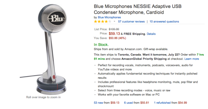 Blue Microphones NESSIE Adaptive USB Condenser Microphone-sale-02