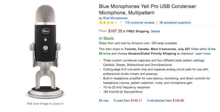 Blue Microphones Yeti Pro USB Condenser Microphone-sale-02