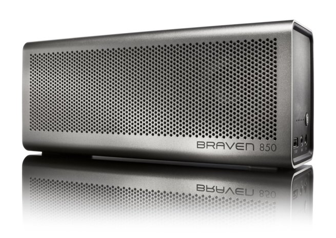 Braven 850 Wireless Bluetooth Speaker with Mic and Powerbank (Silver)