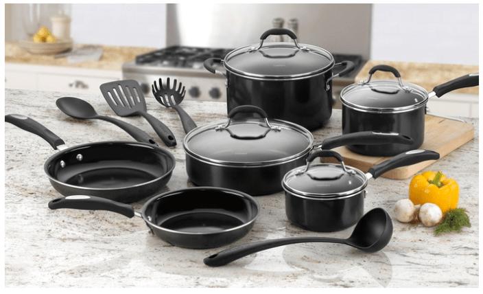Cuisinart 14-Piece PFOA- and PTFE-Free Ceramic Nonstick Cookware Set-01-Groupon-sale
