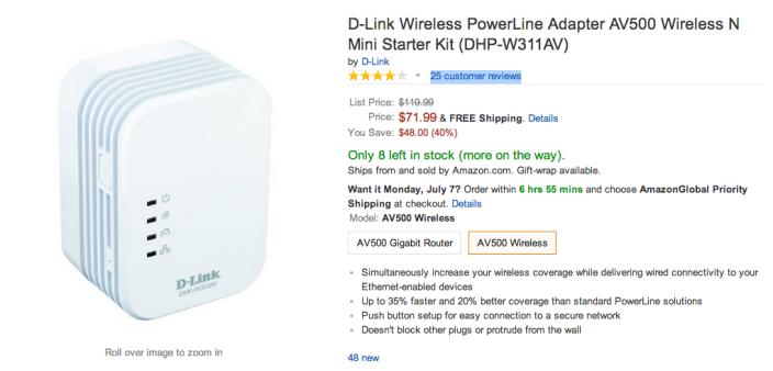 D-Link Wireless AV500 Wireless N Mini PowerLine Adapter Starter Kit (DHP-W311AV)-sale-02
