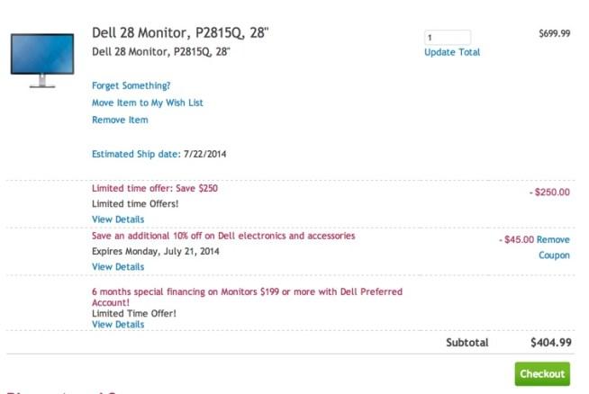 Dell 28 Monitor, P2815Q, 28%22