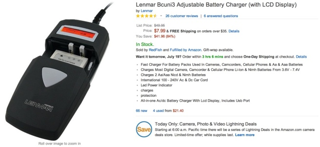 Lenmar Bcuni3 Adjustable Battery Charger (with LCD Display)