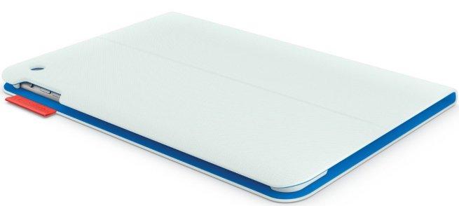 Logitech - Folio Case for Apple® iPad Air - Vapor Gray