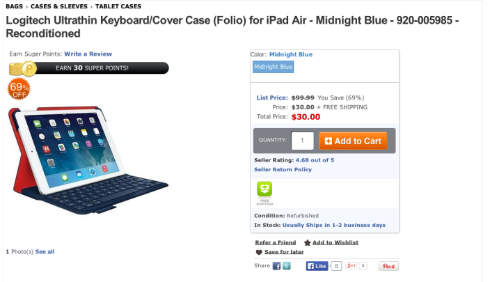Logitech Ultrathin Keyboard Folio for iPad Air in Midnight Navy-sale-05