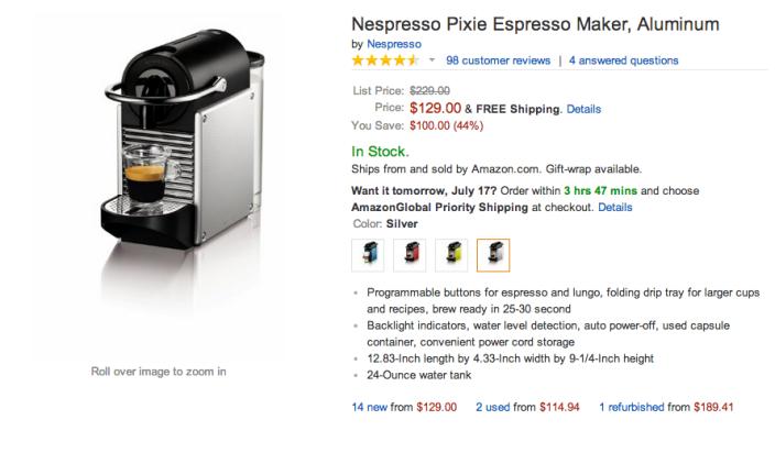 Nespresso Pixie Espresso Maker-sale-02