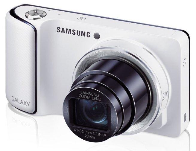 Samsung - Galaxy 16.3-Megapixel Digital Camera - White