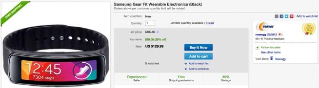 Samsung Gear Fit Wearable Electronics (Black)