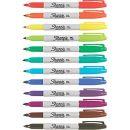 Sharpie® Fine Point Permanent Markers, Assorted, Dozen