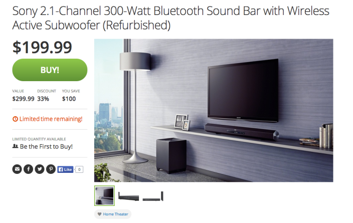 Sony 2.1-Channel 300-Watt Bluetooth Sound Bar with Wireless active subwoofer (HT-CT260H)-sale-03
