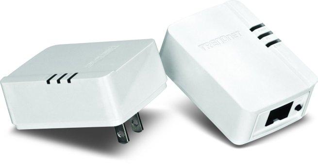 TRENDnet Powerline 200 AV Nano Adapter Kit, TPL-308E2K