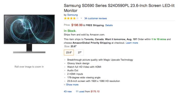 24-Inch Samsung Wide Viewing Angle LED Monitor-sale-Amazon-02