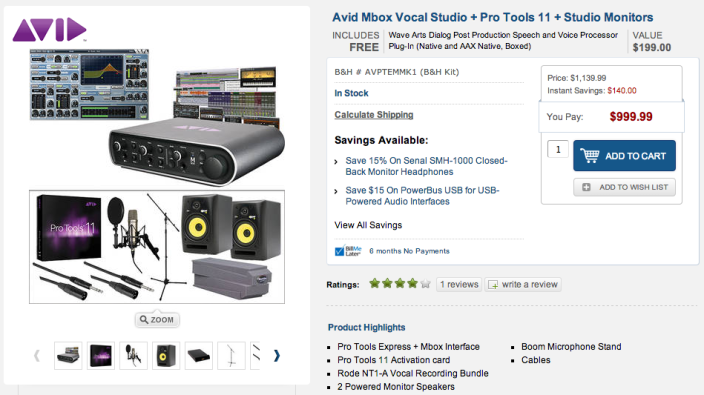 Avid Mbox Vocal Studio + Pro Tools 11 + Studio Monitors-sale-01