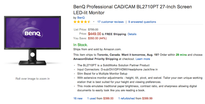 BenQ Professional CAD:CAM BL2710PT 27-Inch Screen LED-lit Monitor-sale-01
