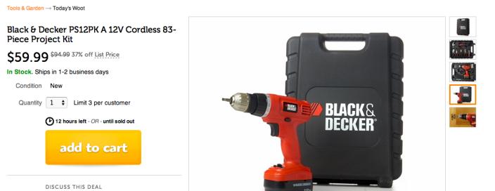 Black & Decker 12v Drill Tool Accessory Kit-sale-03