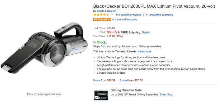 Black & Decker 20-volt MAX Lithium Pivot handheld vacuum-sale-03