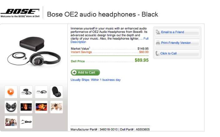 Bose OE2 audio headphones (black)-sale-02