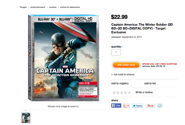 Captain America-Winter Soldier-Target-DVD