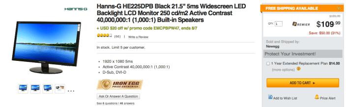 HannsG LCD LED Backlight Monitor (HE225DPB)-sale-02
