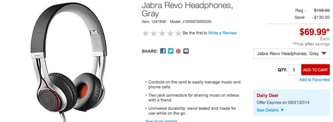 Jabra Revo Headphones, Gray