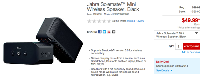 Jabra Solemate Mini Wireless Speaker-sale-Staples-02
