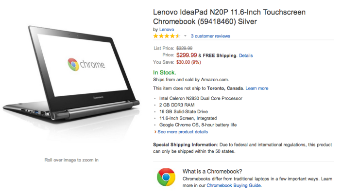Lenovo IdeaPad N20P 11.6-Inch Touchscreen Chromebook (59418460)-sale-02