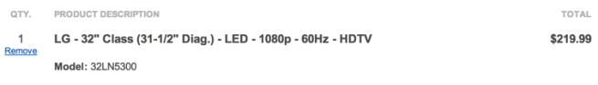 LG - 32%22 Class (31-1:2%22 Diag.) - LED - 1080p - 60Hz - HDTV shot
