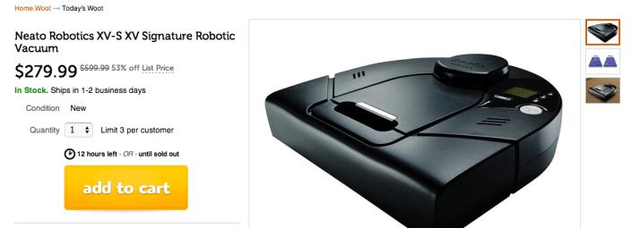 Neato Robotics XV Signature Robotic Vacuum-sale-Woot-02