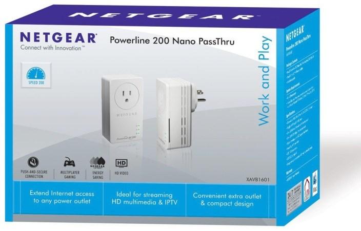 NETGEAR Powerline 200Mbps PassThru Nano Starter Kit (XAVB1601)-sale-01
